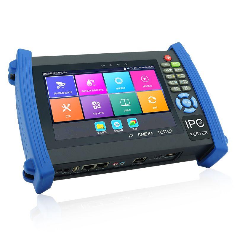 7 Inch H.264/ H.265 4K IP CCTV Tester Monitor IP CVBS Camera tester Rapid ONVIF WIFI TDR RJ45 HDMI IPC-8600MOVTADHS Plus
