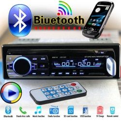 HOT 12 V Bluetooth Car Stereo FM Radio MP3 Audio Player 5 V Charger USB SD AUX Auto Elektronik Subwoofer In-Dash 1 DIN Autoradio