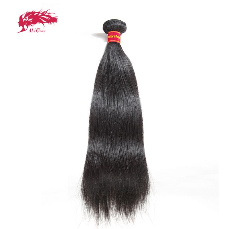 Brésilienne cheveux droits Armure 1/3/4 pièces Naturel Noir cheveux remy Livraison Gratuite Ali Reine Produits de Cheveux 100% cheveux humains faisceaux