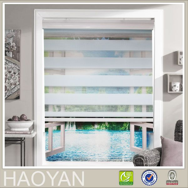 Window curtain zebra roller blinds for kitchen living room office roller zebra blinds 07series with printing freeshipping