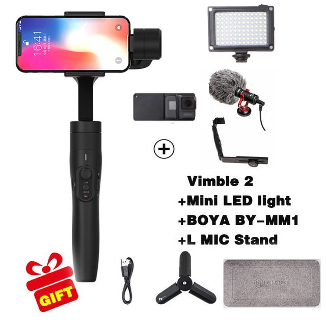 Feiyutech Vimble 2 3-Axis Handheld Smartphone Gimbal Stabilizer for xiaomi samsung iphone gopro hero yi 4k sjcam action cameras