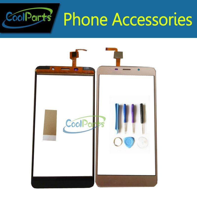 1PC/Lot High Quality 5.7'' Original For Leagoo M8 Pro Touch Screen Digititer Touch Panel Glass With Tool&Tape Black Gold Color