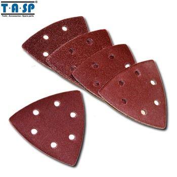 TASP MSH93 25 PC 93mm Delta Ponceuse Sable Papier Crochet et Boucle Papier de Verre disque Abrasif Outils de Ponçage avec Grit 60 80 120 180 240