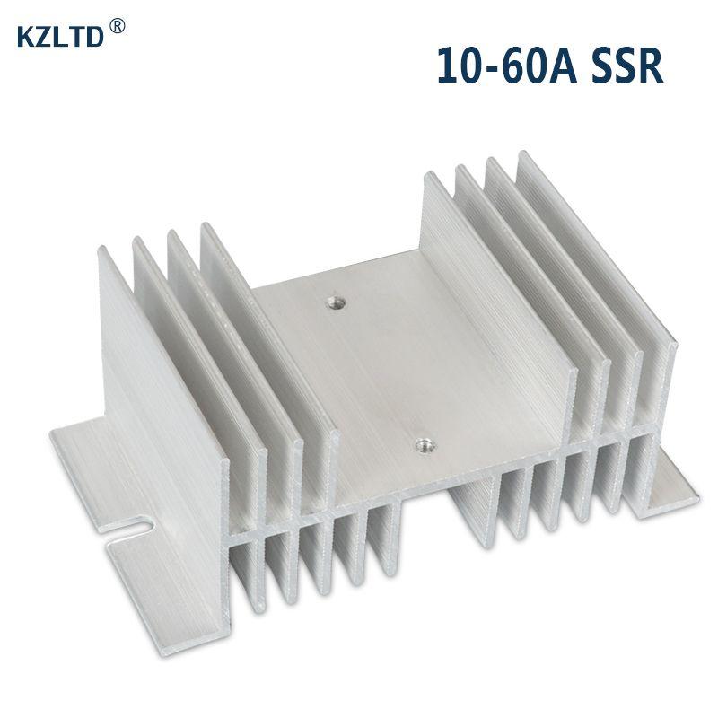 SSR Dissipateur de Chaleur En Aluminium 25A 30A Ton Argent à L'état Solide Relais Radiateur Radiateur pour Monophasé SR-W