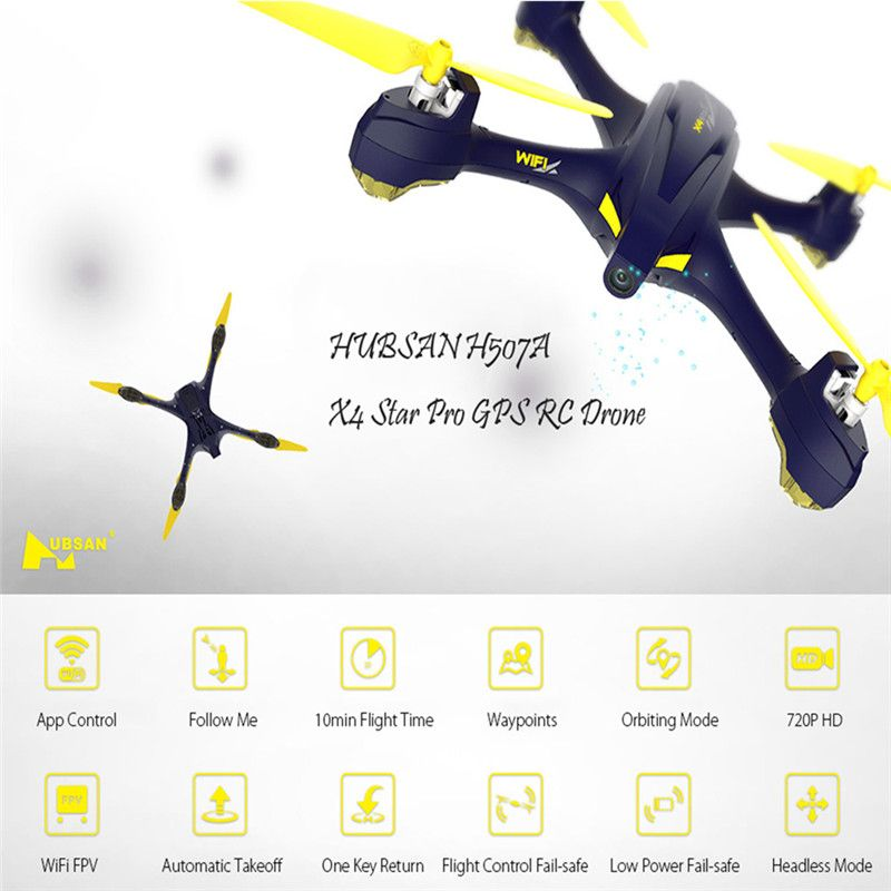 Original Hubsan H507A X4 Quadcopter With Camera Wifi Pro APP Driven Drone With Camera GPS RC Quadcopter FPV Helicopter RTF Drone