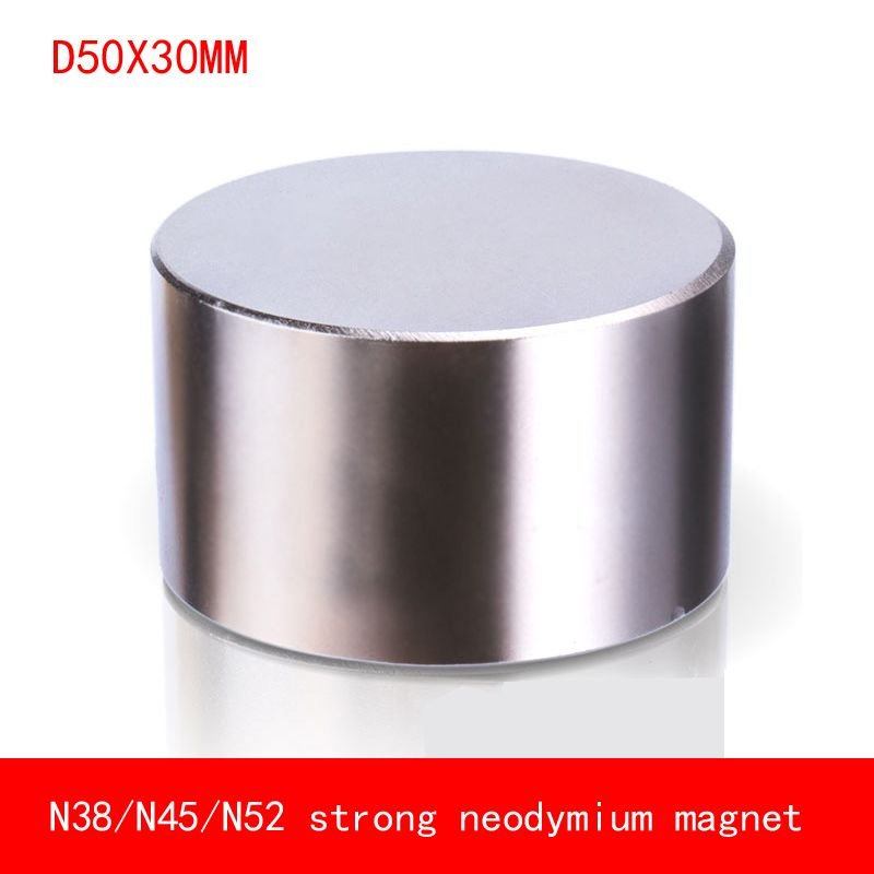 1pcs Neodymium magnet 50x30mm N52 Super strong round magnet Rare Earth NdFeb N38 50*30mm strongest permanent powerful magnetic