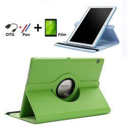 Fall für Huawei MediaPad T3 10 AGS-L09 AGS-L03 tablet 360 rotierenden abdeckung fall-haut für Honor Spielen Pad 2 t3 9,6 fall + Stift + OTG + Film