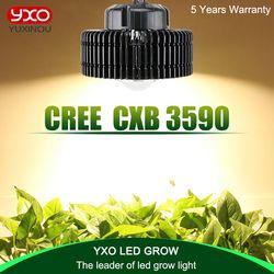 CREE CXB3590 3500 K 100 W COB LED crecen espectro completo de luz MeanWell conductor CREE LED lámpara creciente planta de interior crecimiento luz del Panel