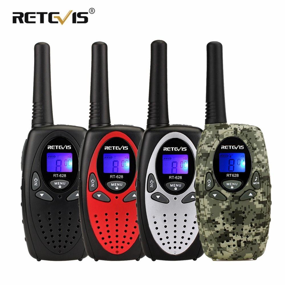 2 pcs Retevis RT628 Mini Walkie Talkie Kids Radio 0.5W PMR PMR446/FRS VOX Portable Two Way Radio Station Comunicador Child Gift