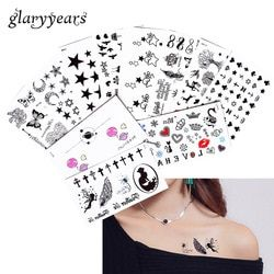 2018 New 5 Sheet Heart Infinity Gift Tattoo Temporary Waterproof Body Henna Hand Neck Ear Art Tattoo Sticker for Women Men Party