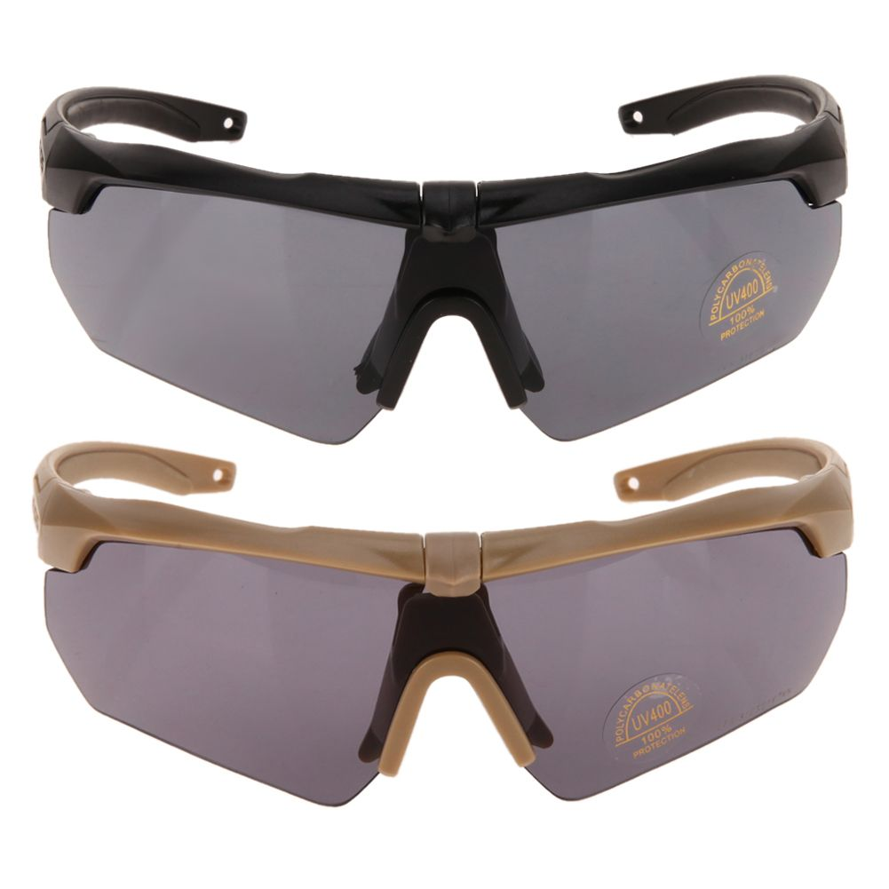 Tr90 Polarizado Bike Ciclismo Gafas Gafas Al Aire Libre gafas de Sol Deportivas UV400 3 lente Gafas de Tiro Táctico Militar Del Ejército
