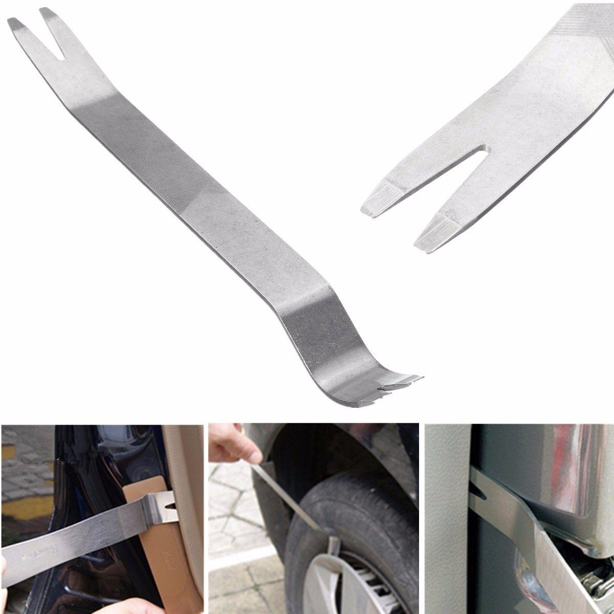 Auto Tür Plank DVD Navigation Demontage Akustische Demontage Werkzeug Hebeln Bord Edelstahl Verziehen Platte