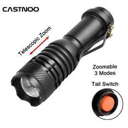 Mini Sepeda LED Senter Torch Senter Zoomable Silicon Strap Adjustable Focus Waterproof Lampu Portabel Untuk Aktivitas Bersepeda