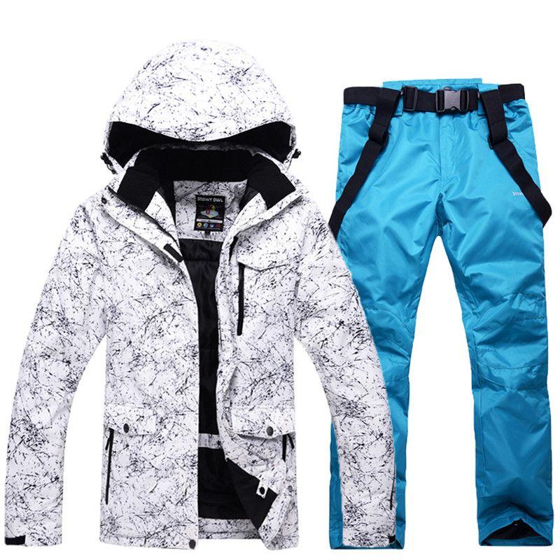 Männer Und Frauen Wasserdichte Skianzug Mountain Ski Anzug Für männer Verdicken Warmen Schnee Ski Jacke + Snowboard hose Ski Set Freies handschuhe