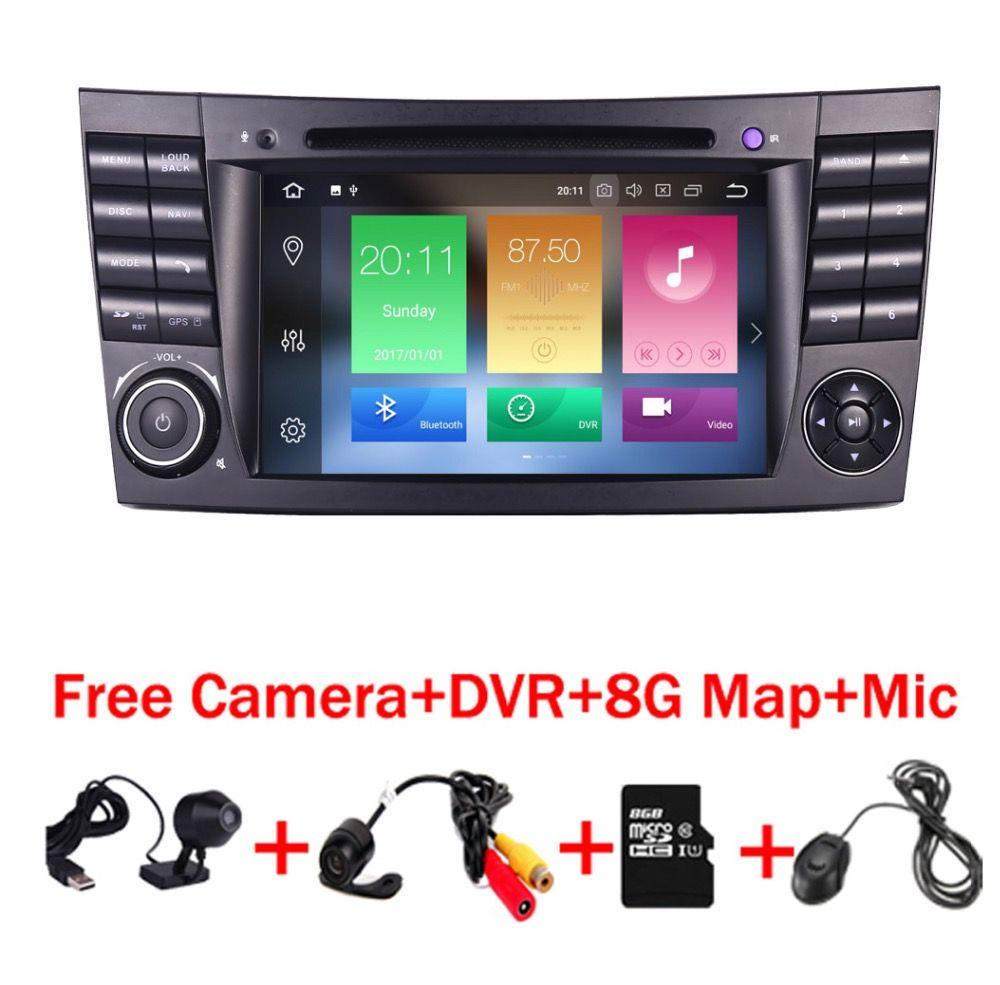 Auf Lager Quad Core 1024*600 Touchscreen Auto DVD Player für mercedes w211 Android 8.0 W209 W219 3g WIFI Radio Stereo GPS 4g DVR