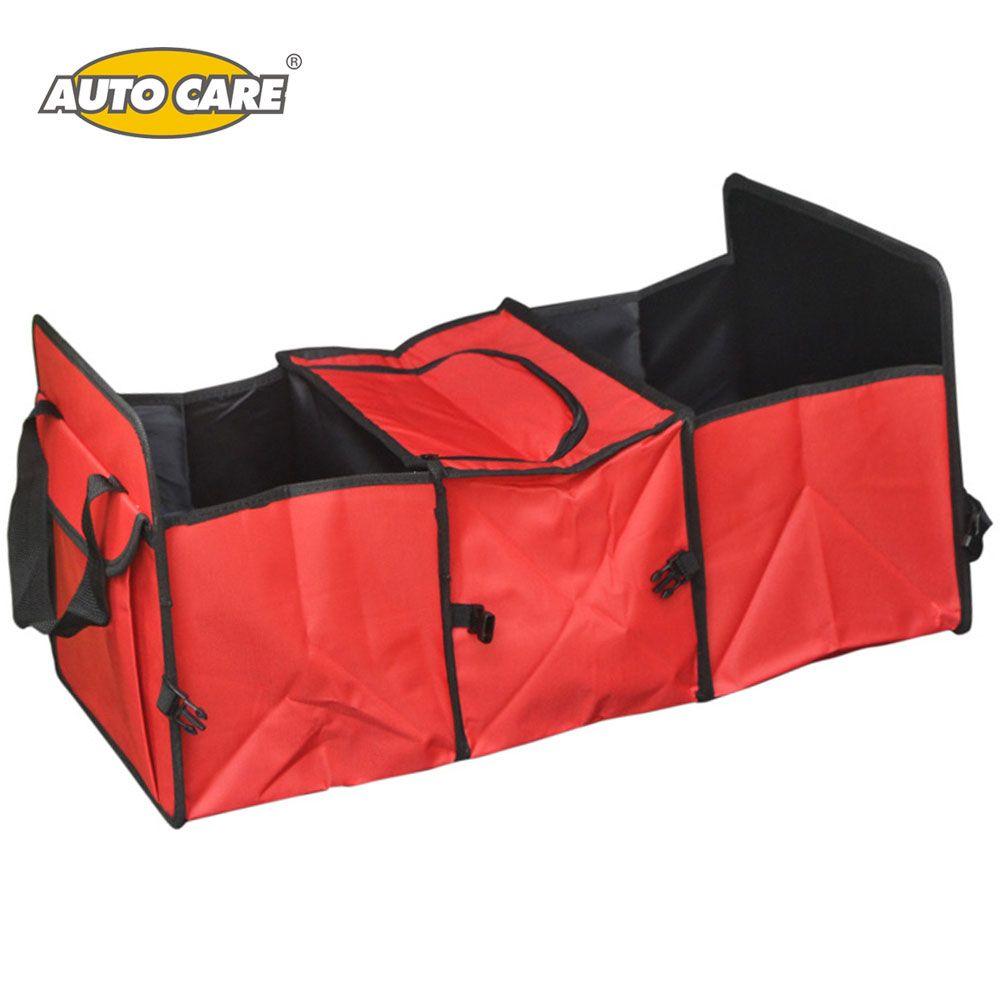 Авто Средства ухода за мотоциклом багажник автомобиля, сумка для хранения Ткань Оксфорд складной ящик для хранения грузовик багажнике авто...