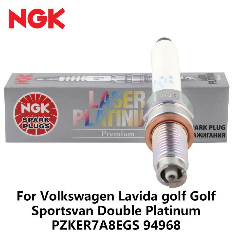 1pieces NGK Car Spark plug For Volkswagen  1.2T golf 1.2T Golf Sportsvan 1.2T Double Platinum PZKER7A8EGS 94968