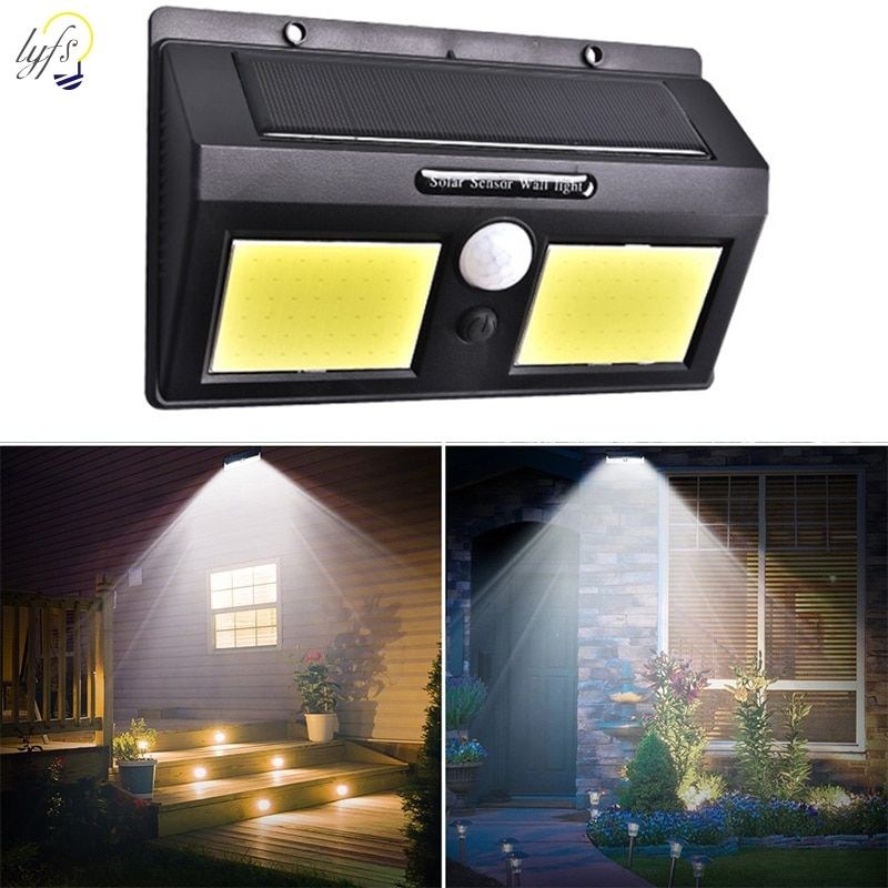 Solar Lamp LED Wall Solar Light Outdoor Security Lighting Nightlight with Motion Sensor Detector for Garden Back Door Step
