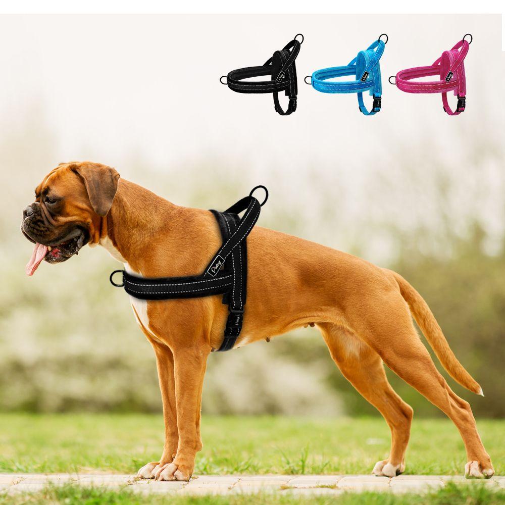 No Pull Dog Harness Nylon Large Dog Harness Reflective Pet Vest Padded Strap Harnesses For Small Medium Dogs Pitbull Buldog