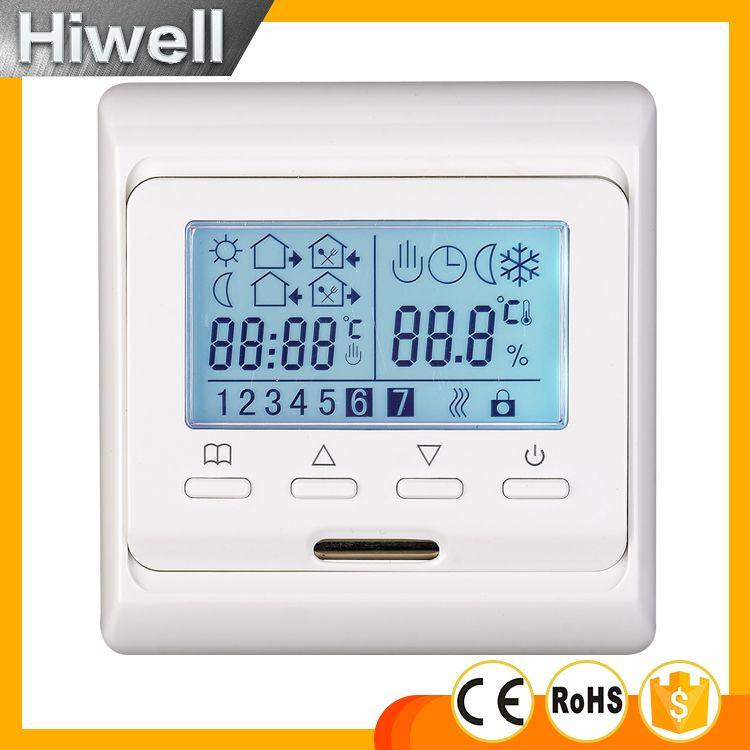 Livraison gratuite thermostat programmable hebdomadaire thermostat numérique pour tapis de chauffage par le sol film chauffant câble chauffant panneau chauffant
