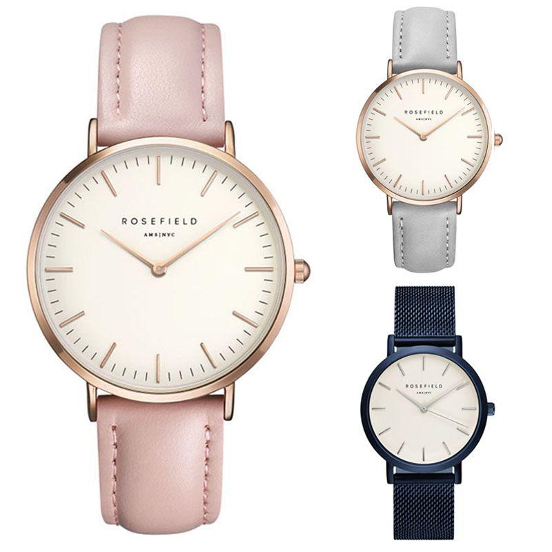 2017 cuarzo marca señora relojes mujeres de lujo oro rosa cuadrado casual reloj de cuero reloj Relogio feminino montre