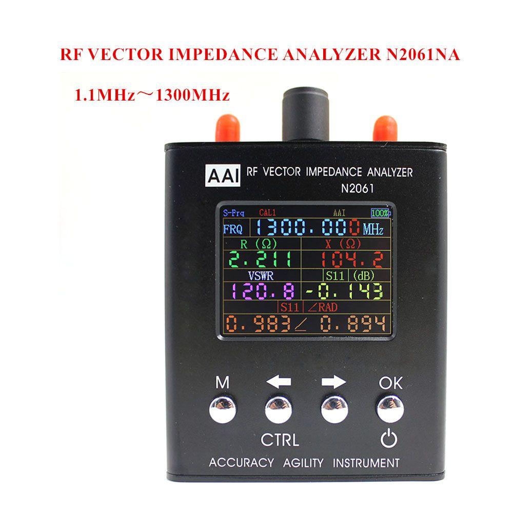 N2061SA Ondes Courtes Antenne Analyseur gamme de Fréquence 1.1 MHz ~ 1300 MHz résistance/impédance/SWR/s11 (version améliorée pour N1201SA)
