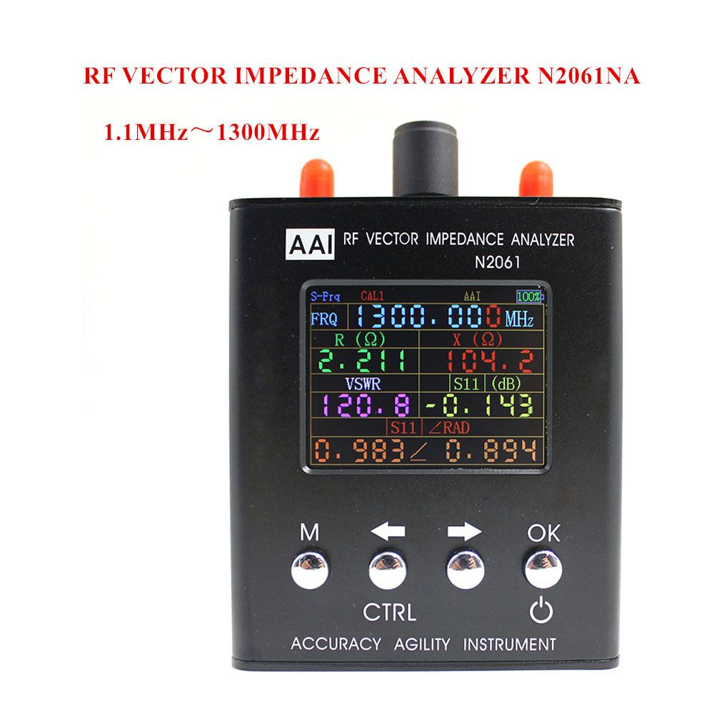 N2061SA Short Wave Antenna Analyzer Frequency range 1.1MHz~1300MHz resistance/impedance/SWR/s11 (Upgraded version for N1201SA)