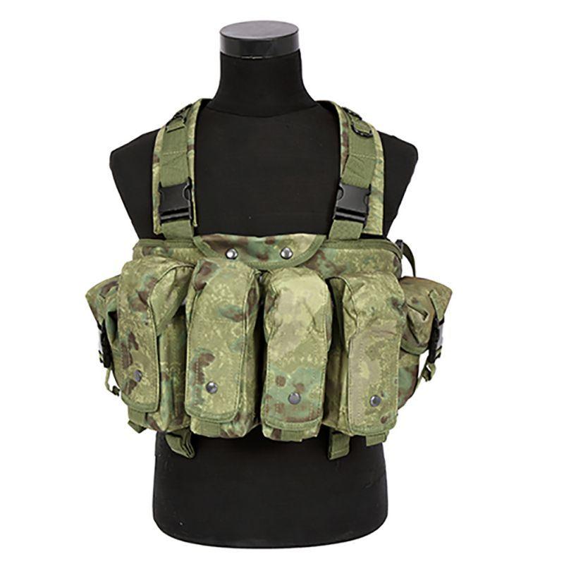 Outdoor AK 47 Magazin Träger Kampf Military Camouflage Taktische Weste Airsoft Ammo Chest Rig
