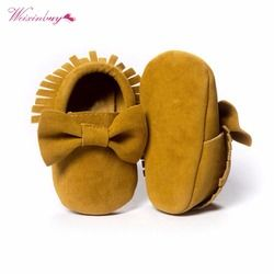 WEIXINBUY Newborn Baby Moccasins Soft Boy Girl Fringe Soft Soled Non-slip Footwear  Shoes