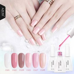 Azure Kecantikan 12 Ml Nail Gel Polish Rendam Off Uv Gel Cat Kuku Warna Ungu Gel Cat Kuku Tahan Lama kuku Gel Lacquer