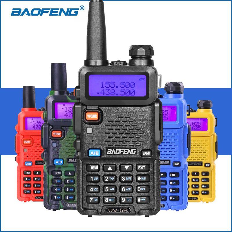 100% d'origine baofeng 5r uv 5r Talkie Walkie VHF UHF à Deux Voies Jambon Émetteur-Récepteur Radio uv-5r uv5r De Poche 2- way Radio