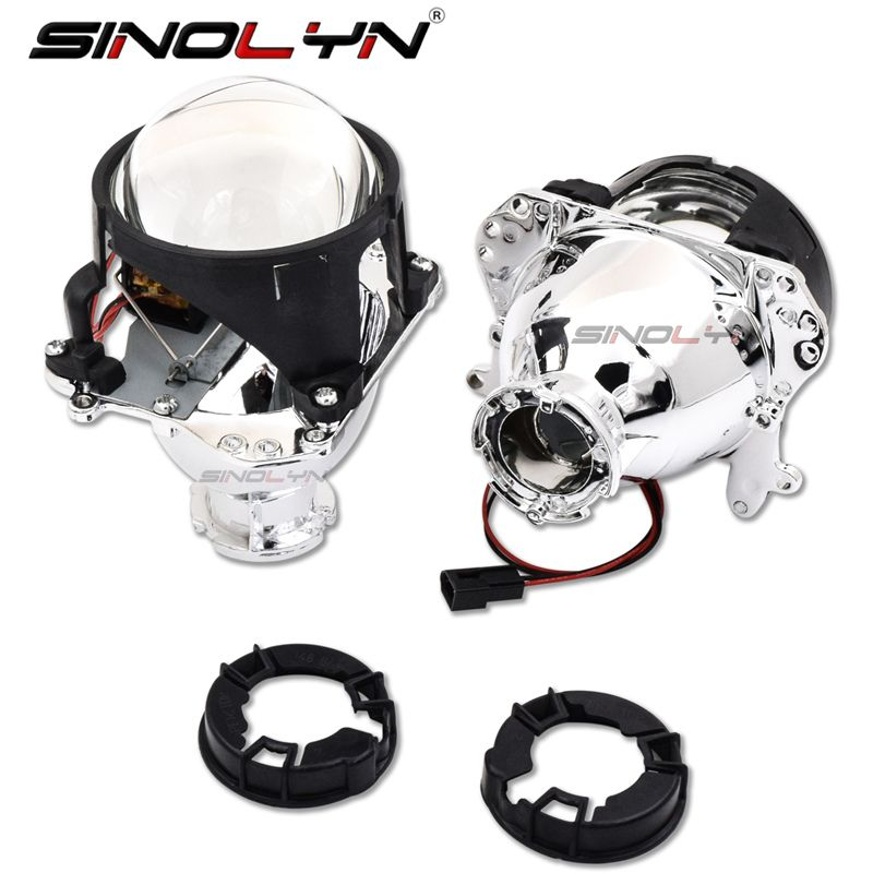 SINOLYN 2.5 2.8 3.0 inch D2S HID Bi-Xenon Projector Headlight Lens for BMW 5 E39 2001-2004 Facelift/Mercedes Benz W204 C200/Audi