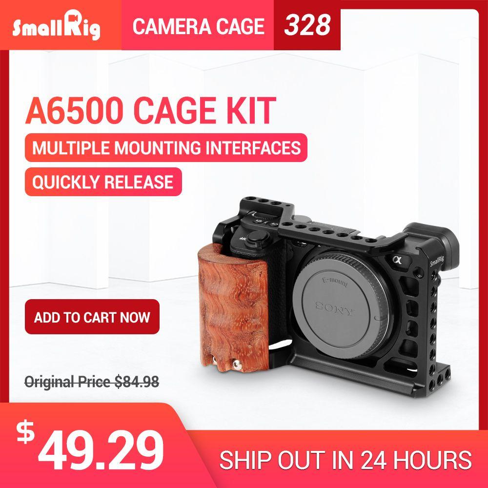 SmallRig 6500 Kamera Käfig Kit für Sony A6500 Kamera Mit Holzgriff Griff Form fitting A6500 käfig Stabilisator 2097