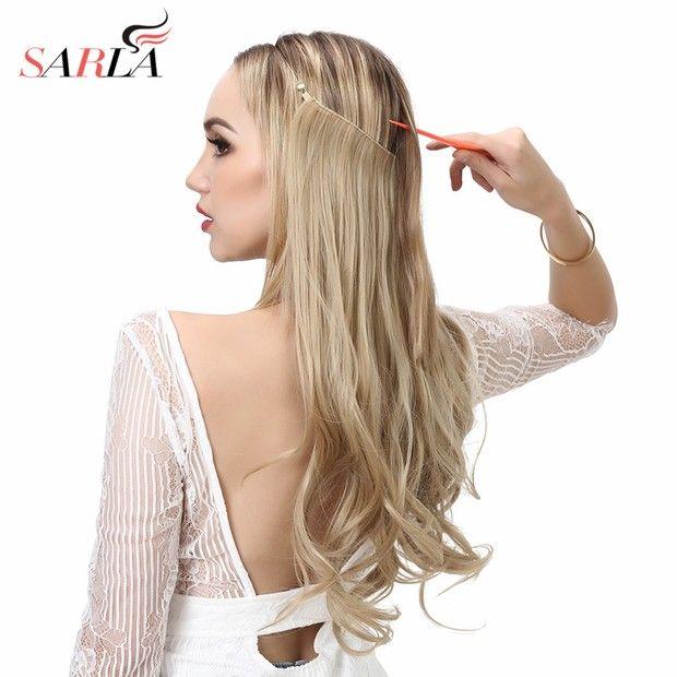 14 16 18 120g Vague extensions de cheveux Invisible Ombre Bayalage Synthétique Naturel Flip Secret Caché Fil Couronne gris Rose