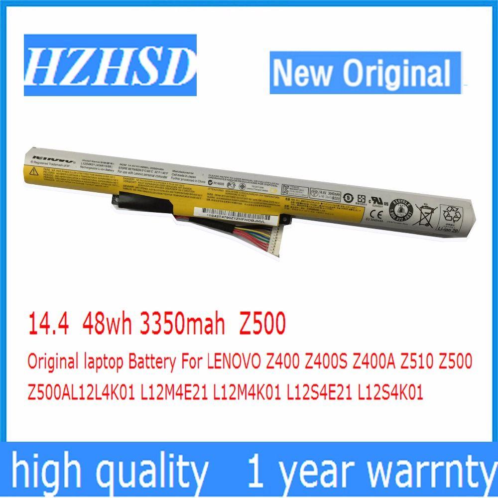 14,4 v 48wh 3350 mah Z500 Original-laptop-Batterie Für LENOVO Z400 Z400S Z400A Z510 Z500 Z500AL12L4K01 L12M4E21 L12M4K01 L12S4E21