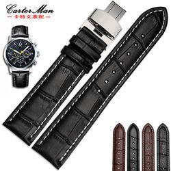New kualitas tinggi kulit asli gelang jam 18mm 19mm 20mm 21mm 22mm kulit tali untuk tissot menonton dengan gesper lipat
