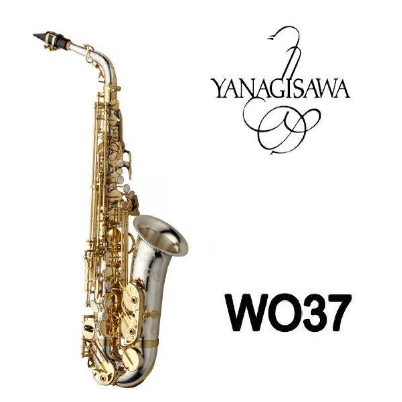 2018 Brand NEW YANAGISAWA A-WO37 Alto Saxophone Eb Silver plated Gold Key Professional Sax Mouthpiece With Case High Quality Sax