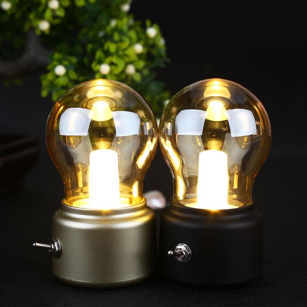2019 nouvel an LED ampoule classique soufflant lampe de bureau décoration lumière rétro USB Rechargeable veilleuse bureau lampe de table LED
