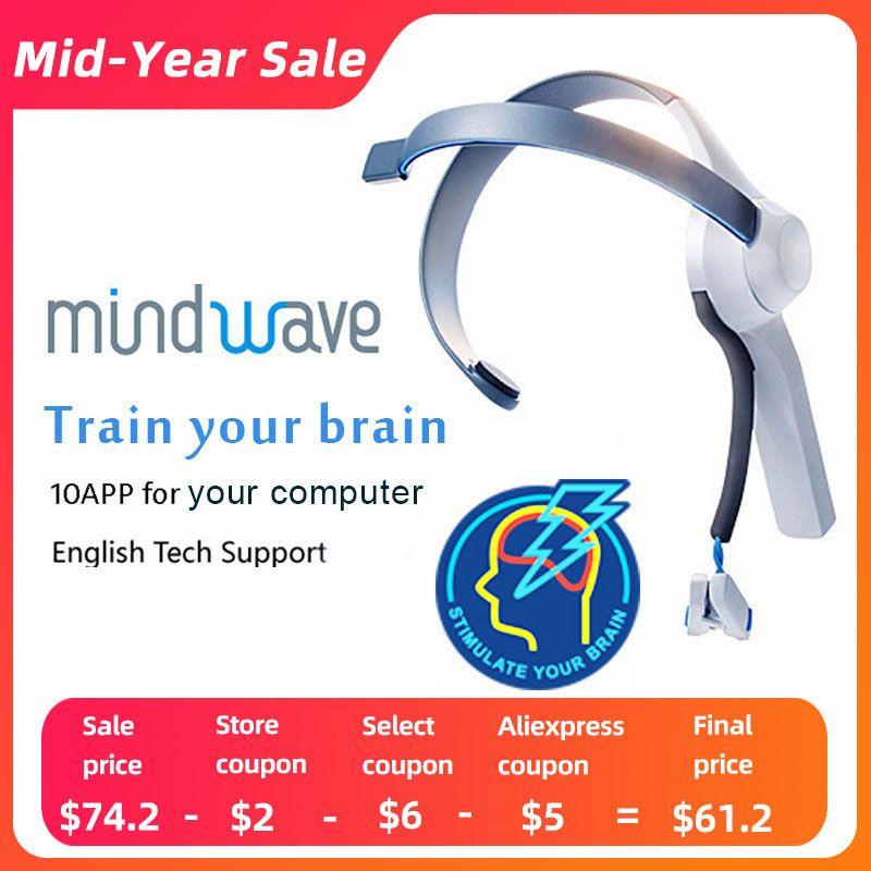2019 offre spéciale Mindwave casque International Rf Version électrode sèche Eeg Attention et méditation contrôleur Neuro Feedback