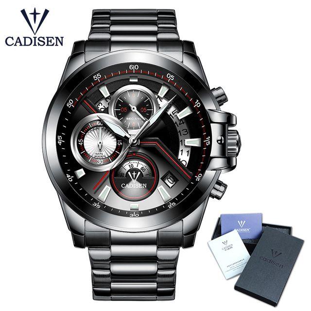 2018 Men's Watch CADISEN Top Brand Luxury Casual Military Sport Wristwatch Men Waterproof Clock Relogio Masculino Relojes Hombre