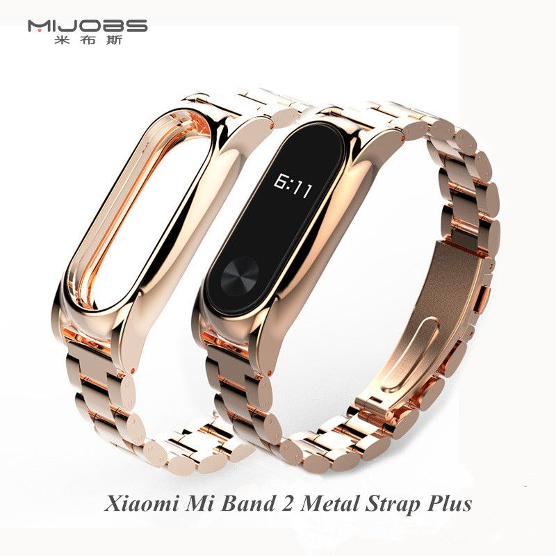 Original Mijobs Xiaomi Mi Band 2 Metal Strap Stainless Steel Replace Straps For Xiomi miband 2 Band2 Smart Bracelet Accessories