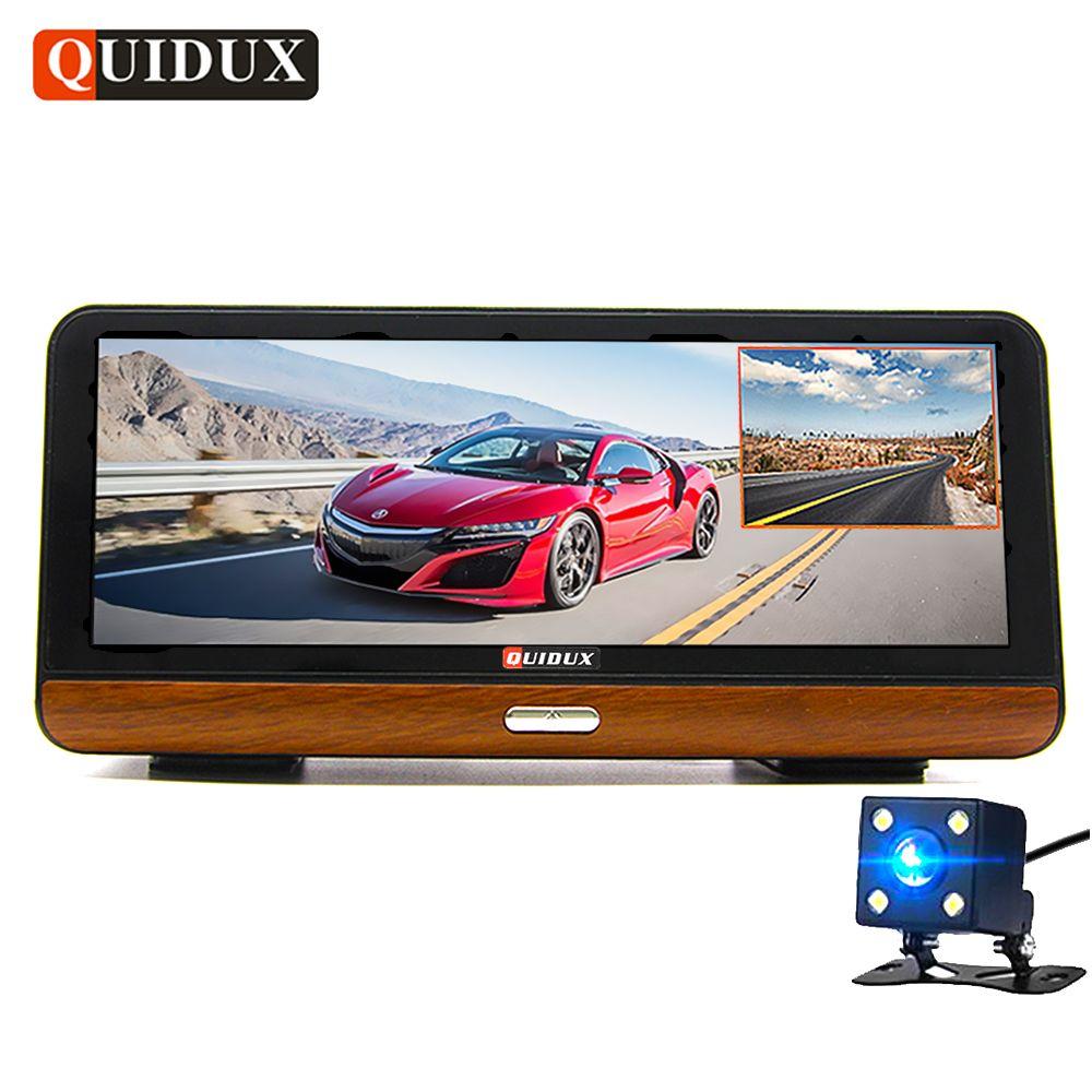 QUIDUX 8 Inch Dash Camera Full HD 1080P 4G Android DVR GPS Navigation ADAS Warning Car Video Recorder registrator Remote monitor