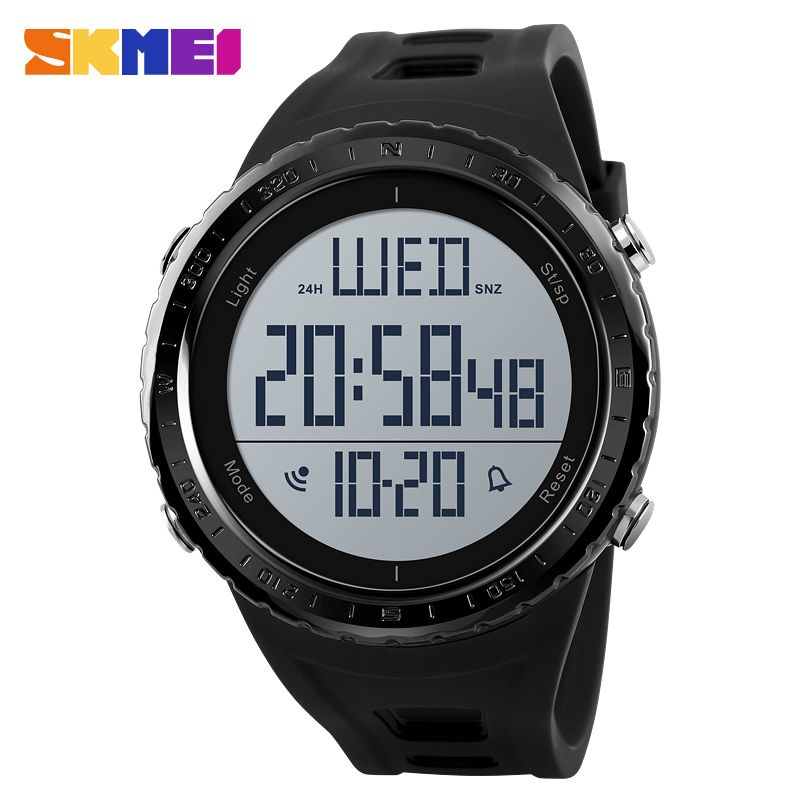 SKMEI Sports Watches Men Big Dial Outdoor Countdown Chronograph Shock Watch Waterproof Digital Wristwatches <font><b>Relogio</b></font> Masculino
