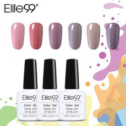 Elite99 10 Ml Telanjang Seri Warna Kuku Gel Cat Kuku Gel Polish Rendam Off Nail Gel Varnish Semi Permanen Kuku seni Poles Gel