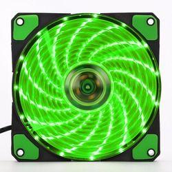 120 мм светодиодный бесшумного компьютер Корпус Вентилятор 15 Светодиодный s 12 V с Резиновые Тихий разъем Molex легкость монтажа светодиодный ве...