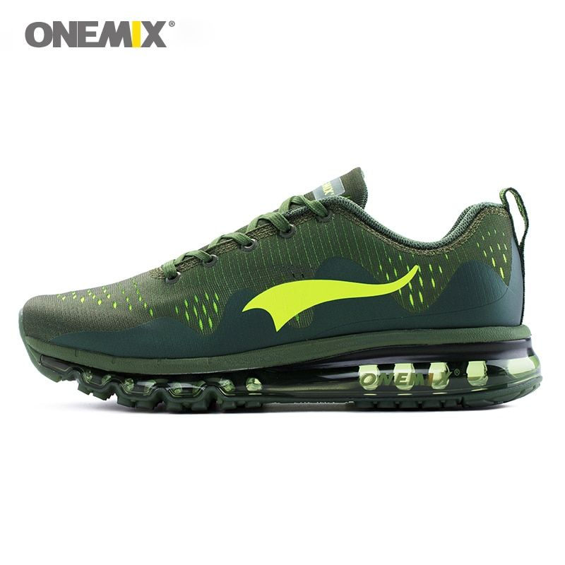 ONEMIX men running shoes cool sports sneakers damping cushion breathable knit mesh vamp outdoor walking jogging shoes