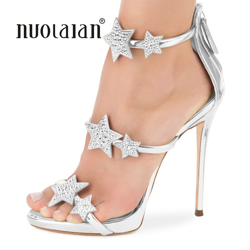 2018 NEW fashion women pumps crystal high heel pumps shoes for women sexy peep toe high heels sandals party wedding shoes woman