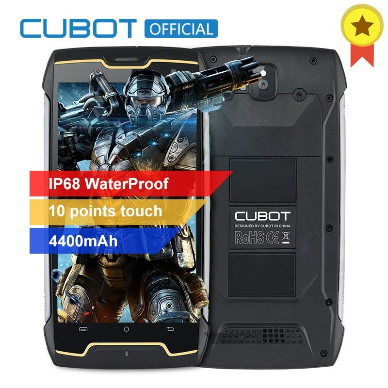 Original Cubot KingKong IP68 Waterproof Dustproof Shockproof MT6580 Quad Core Mobile Phone 5.0 HD 2GB RAM 16GB ROM 4400mAh