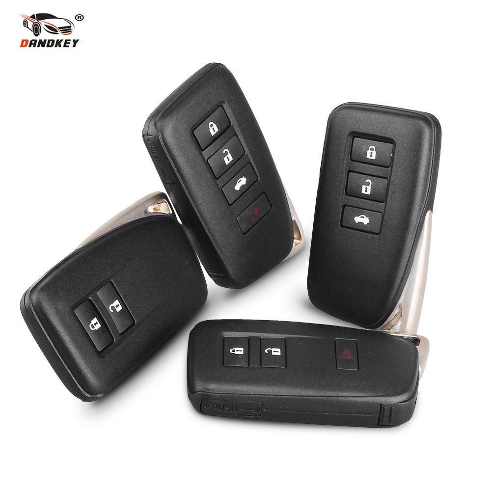 Dandkey Schlüssel Fall Für LEXUS ES350 IST/ES/GS/NX/RX/GX GS300 GS350 IS250 ES250 NX200 Smart Schlüssel 2 3 4 Tasten Auto Remote Key Shell