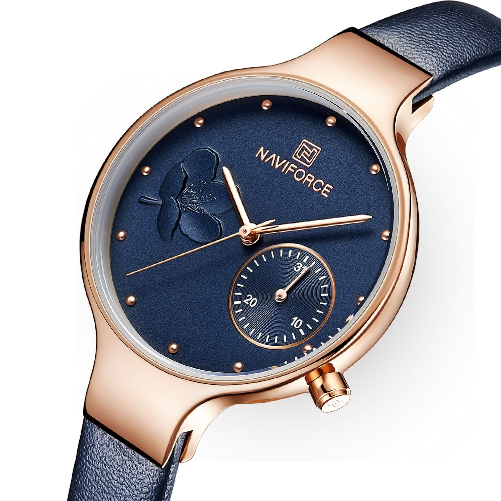 Women Watches Luxury Brand Fashion Quartz Blue Leather Ladies Rhinestone Watch Dress Waterproof Simple Clock relogio feminino